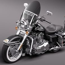 arley Davidson Road King Classic Police 2011 3D Model