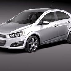 Chevrolet Aveo - Sonic sedan 2012 3D Model