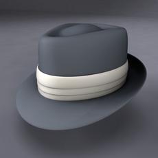 Frank Sinatra Fedora Hat 3D Model