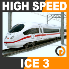 High Speed Train - ICE 3 Siemens Velaro with Interior 3D Model