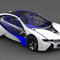 BMW Vision Concept Car Efficient Dynamics 3D Model