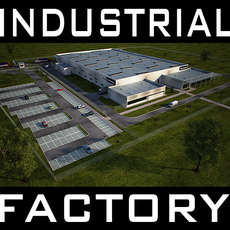 industrial building for Factory, Warehouse, Workshop, Stock, Storage facility, etc. 3D Model
