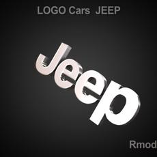 Jeep 3d Logo 3D Model