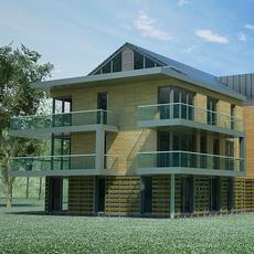 Multi Unit House Building 3D Model