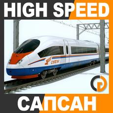 High Speed Train - Sapsan Siemens Velaro with Interior 3D Model