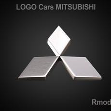 Mitsubishi 3d Logo 3D Model