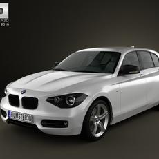 BMW 1-series 5door 2011 3D Model