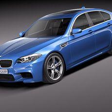 BMW M5 2012 sedan 3D Model