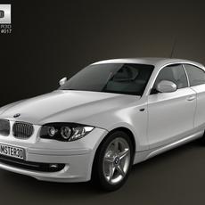 BMW 1-series 3 door 2009 3D Model