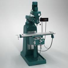 Milling Machine Tool 3D Model