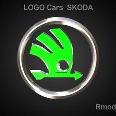 Skoda 3d Logo 3D Model