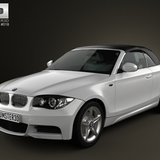 BMW 1-series convertible 2009 3D Model