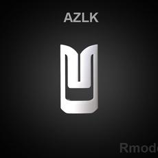 AZLK 3d Logo 3D Model