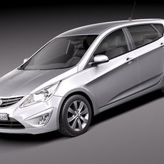 Hyundai Verna - Accent 2012 hatchback 3D Model