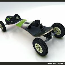 Mountain Board 3D Model