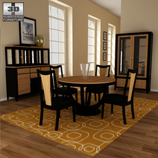 Dining room 03 Set 3D Model