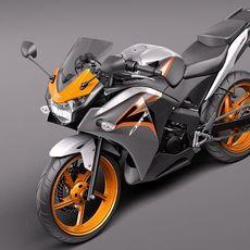 Honda CBR 125R 2011 3D Model