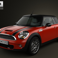 Mini John Cooper Works Convertible 2011 3D Model