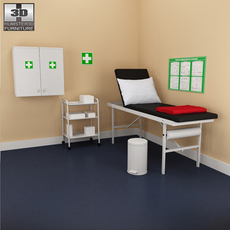 Hospital 02 Set - medical furniture. 3D Model