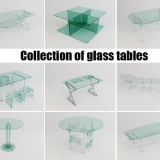 Collection of glass tables 3D Model