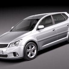 General Average Hatchback 2010 3D Model