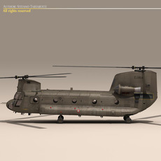 CH-47 Esercito Italiano Helicopter 3D Model