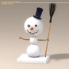 Cartoon snowman 3D Model
