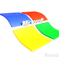 Microsoft 3d Logo  3D Model