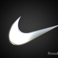 Nike 3d Logo 3D Model