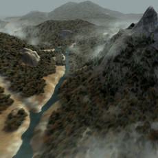 Landscape forest enviroment 3D Model