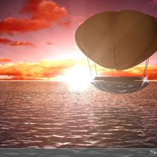 ballon sunset 3D Model