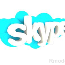 Skype 3d Logo 3D Model