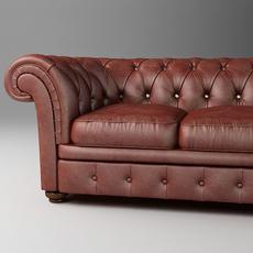 Leather Sofa Relotti Armando 3D Model