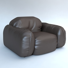 Leather Armchair Piumotto Busnelli Italy 3D Model