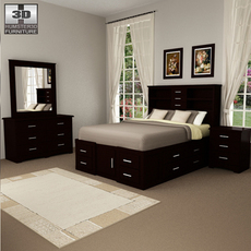 Bedroom Furniture 24 Set 3D Model