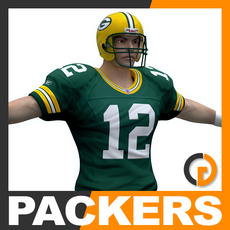 NFL Player Green Bay Packers 3D Model