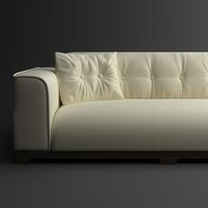 Classical leather sofa 3D Model