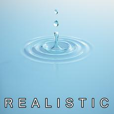 Water Drop and Splash 3D Model