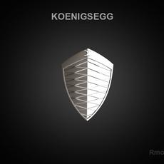Koenigsegg 3d Logo 3D Model