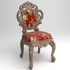 Cornelio Cappellini Baroque Side Chair 3D Model