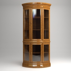 Display Case Cabinet Vitrine 3D Model