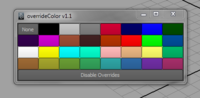 Override Color for Maya 1.1.0 (maya script)