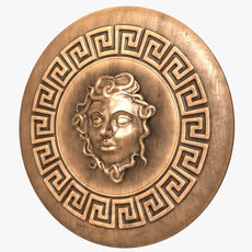 Shield with Medusa Head 3D Model