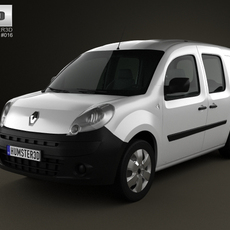 Renault Kangoo Van 2 Side Doors Glazed 2011 3D Model