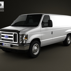 Ford E-series Van 2011 3D Model