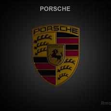Porsche 3d Logo 3D Model