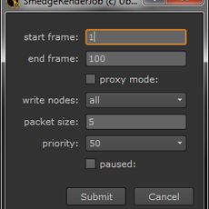 Submit to Smedge from Nuke for Nuke 1.0.0 (nuke script)