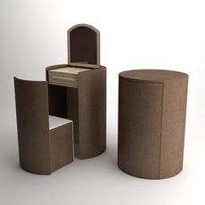 Dressing Table Set 3D Model