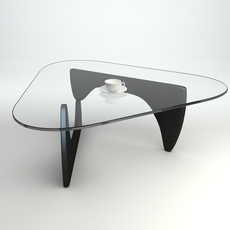 Coffee Table with Cup and Saucer 3D Model