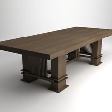 Frank Lloyd Wright Husser Table 3D Model